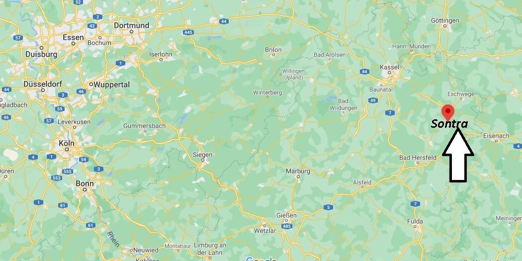Wo ist Sontra (Postleitzahl 36205)