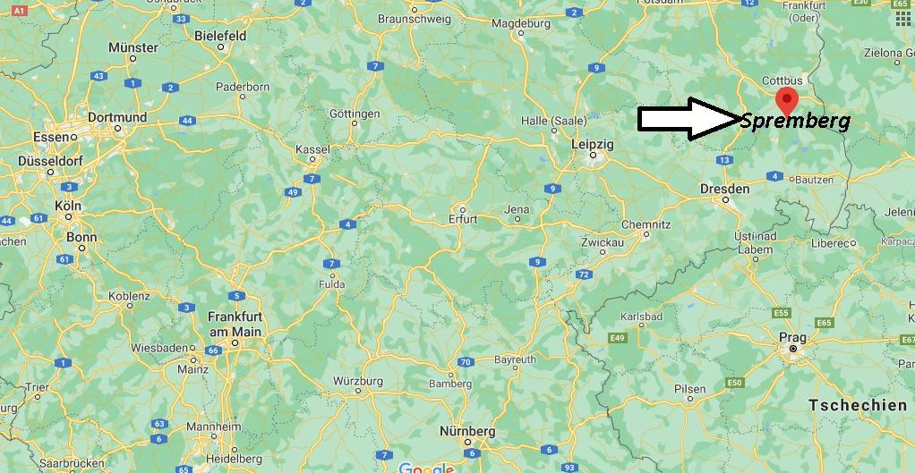 Wo liegt Spremberg