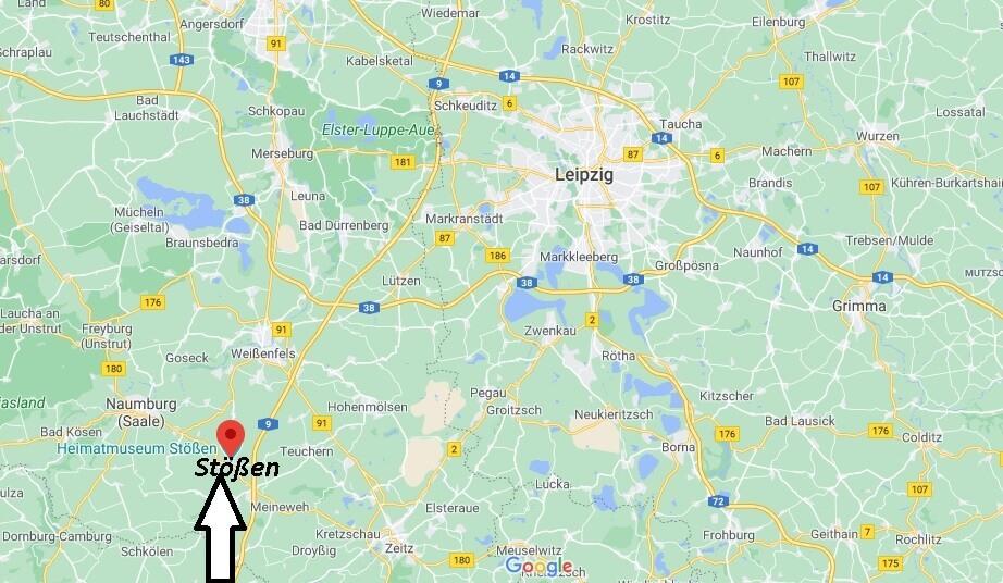 Wo ist Stößen (Postleitzahl 06667)