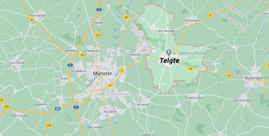 Wo ist Telgte (Postleitzahl 48291)