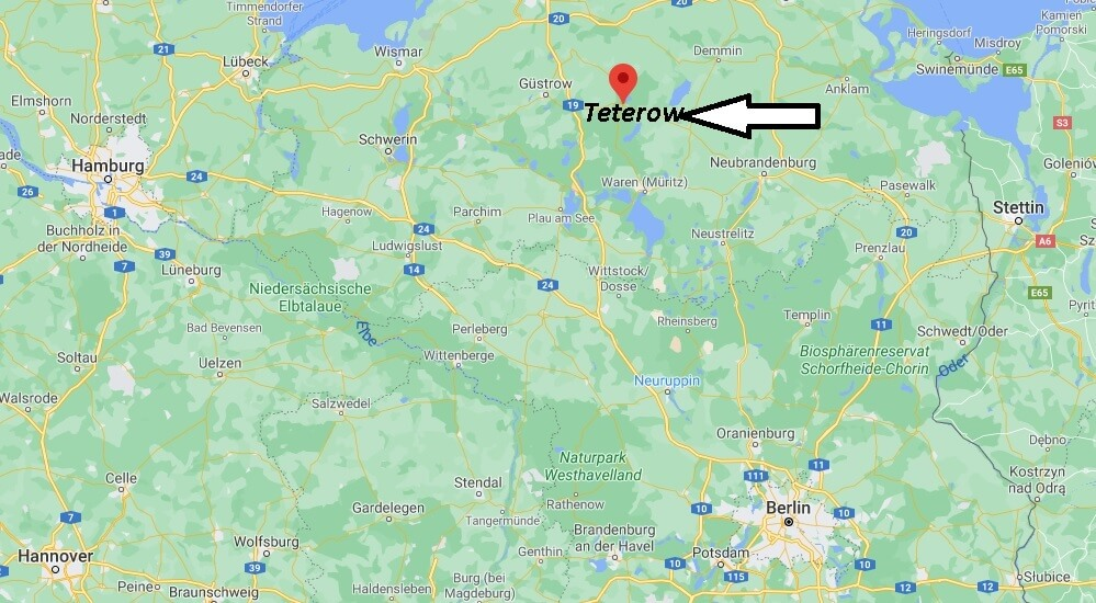 Wo ist Teterow (Postleitzahl 17166)