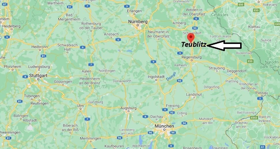 Wo ist Teublitz (Postleitzahl 93158)