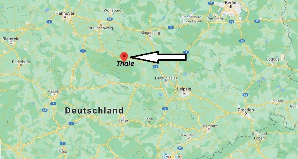 Wo ist Thale (Postleitzahl 06502)