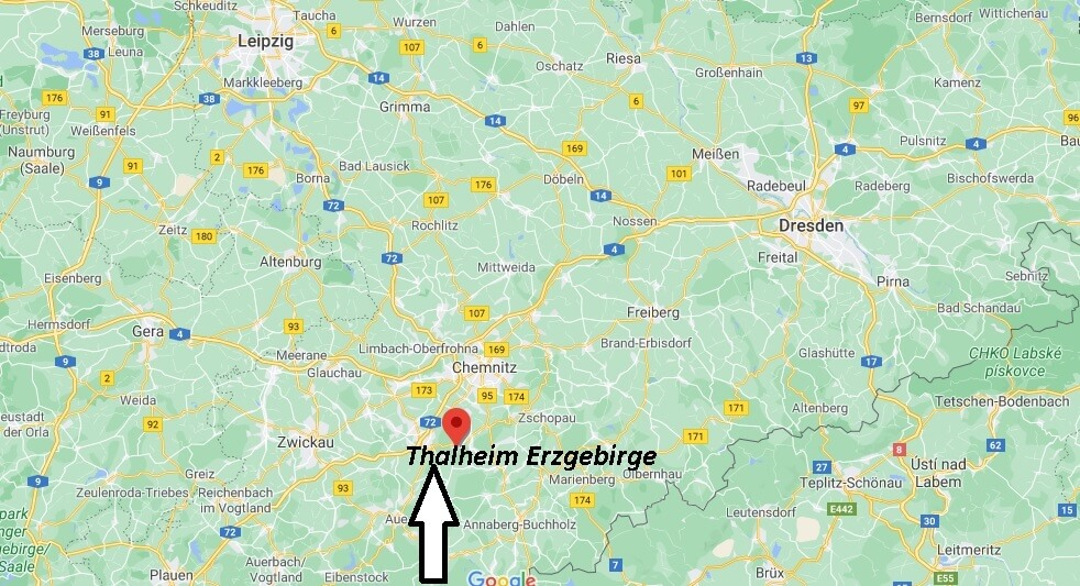 Wo ist Thalheim Erzgebirge (Postleitzahl 09380)