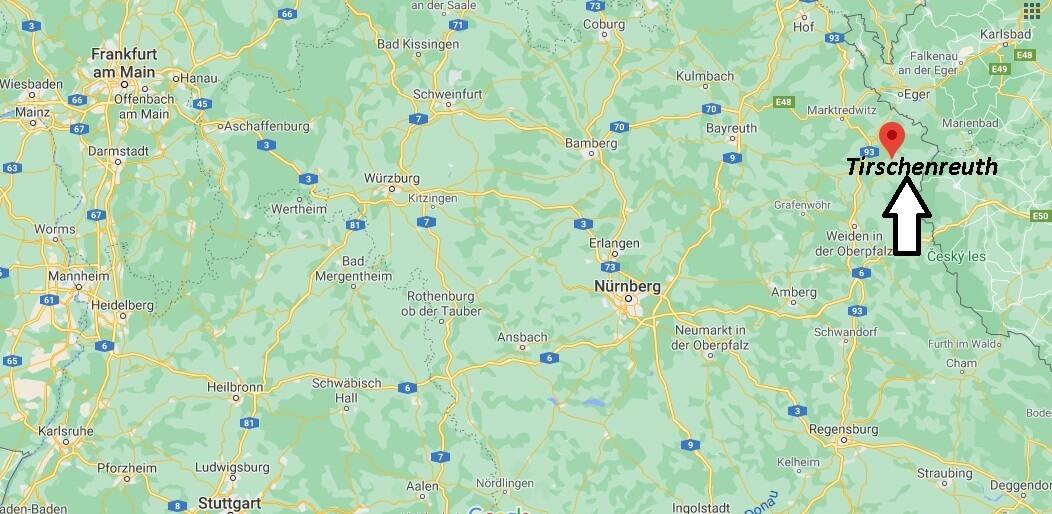 Wo ist Tirschenreuth (Postleitzahl 95643)