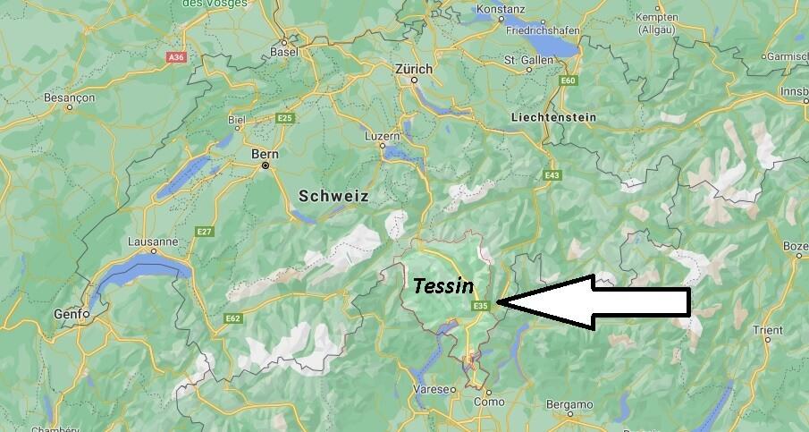 Wo liegt Tessin