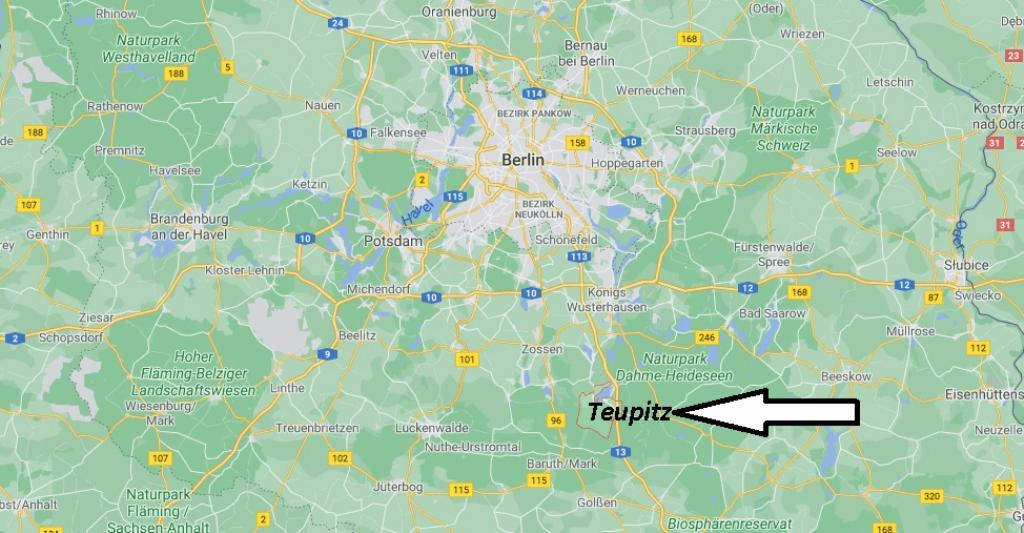Wo liegt Teupitz