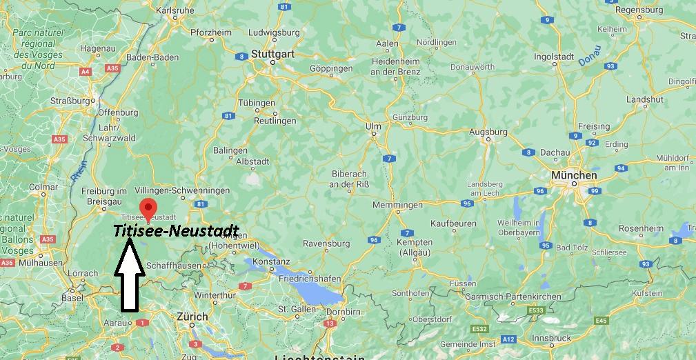 Wo liegt Titisee-Neustadt