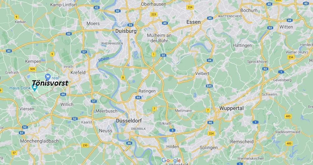 In welchem Bundesland liegt Tönisvorst