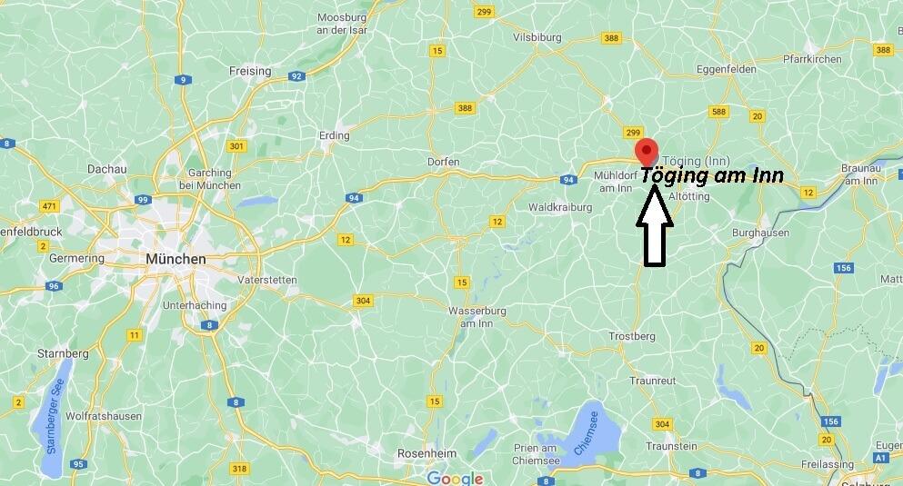 In welchem Bundesland liegt Töging am Inn