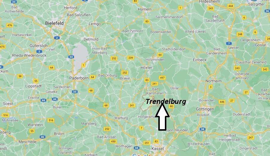 Wo ist Trendelburg (Postleitzahl 34388)