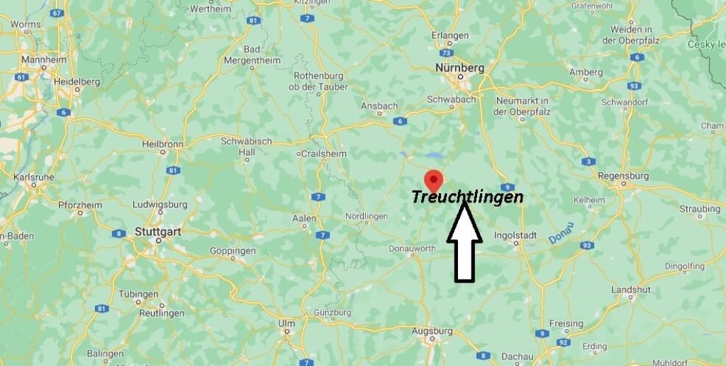 Wo ist Treuchtlingen (Postleitzahl 91757)