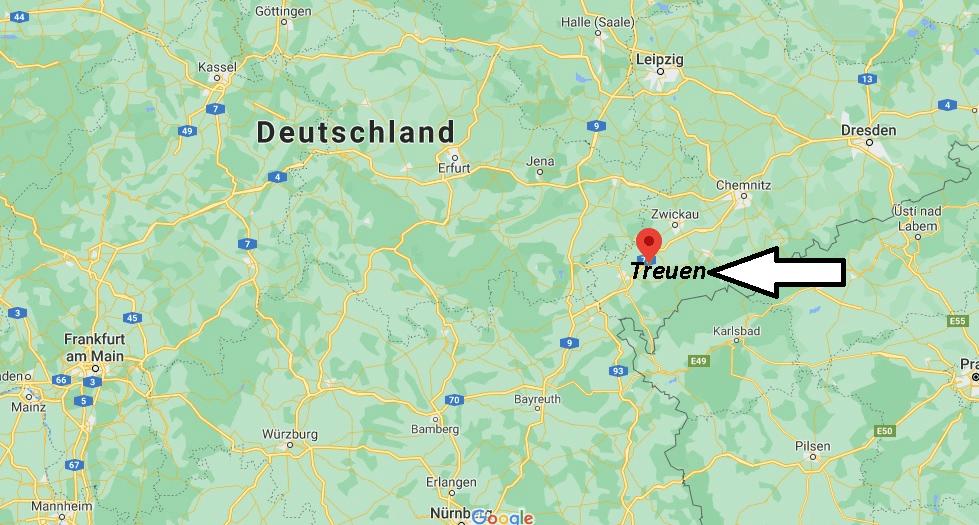 Wo ist Treuen (Postleitzahl 08233)