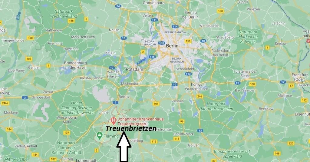 Wo ist Treuenbrietzen (Postleitzahl 14929)