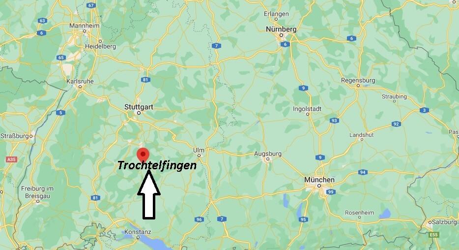 Wo ist Trochtelfingen (Postleitzahl 72818)