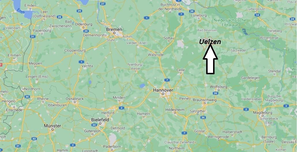 Wo ist Uelzen (Postleitzahl 29525)