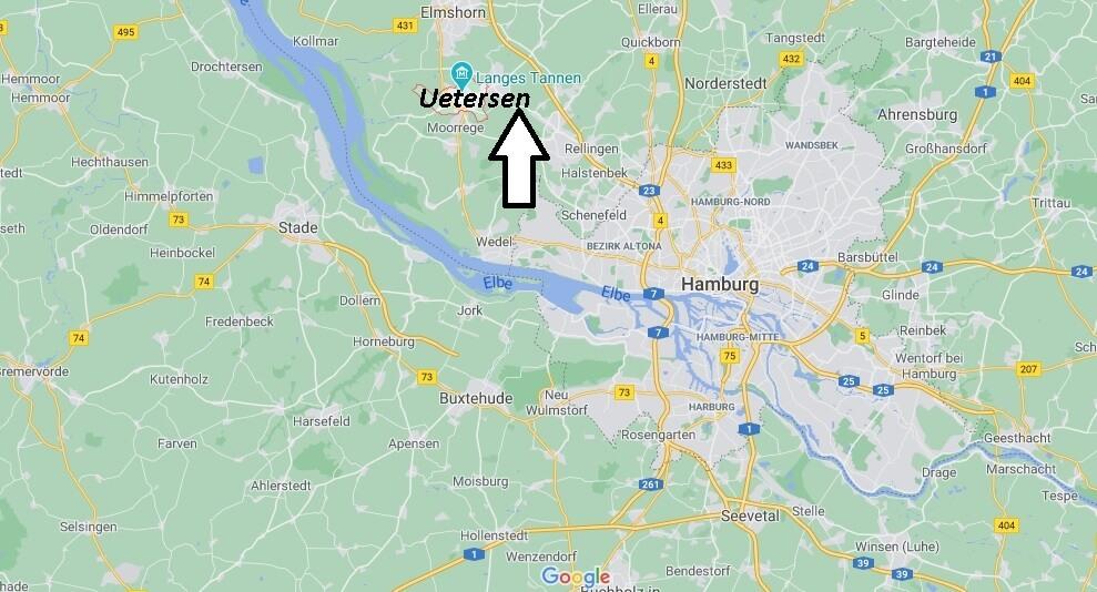 Wo ist Uetersen (Postleitzahl 25436)