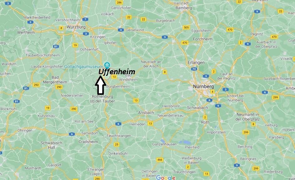 Wo ist Uffenheim (Postleitzahl 97215)