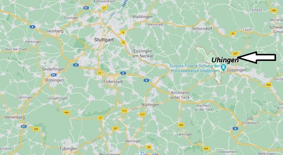 Wo ist Uhingen (Postleitzahl 73066)