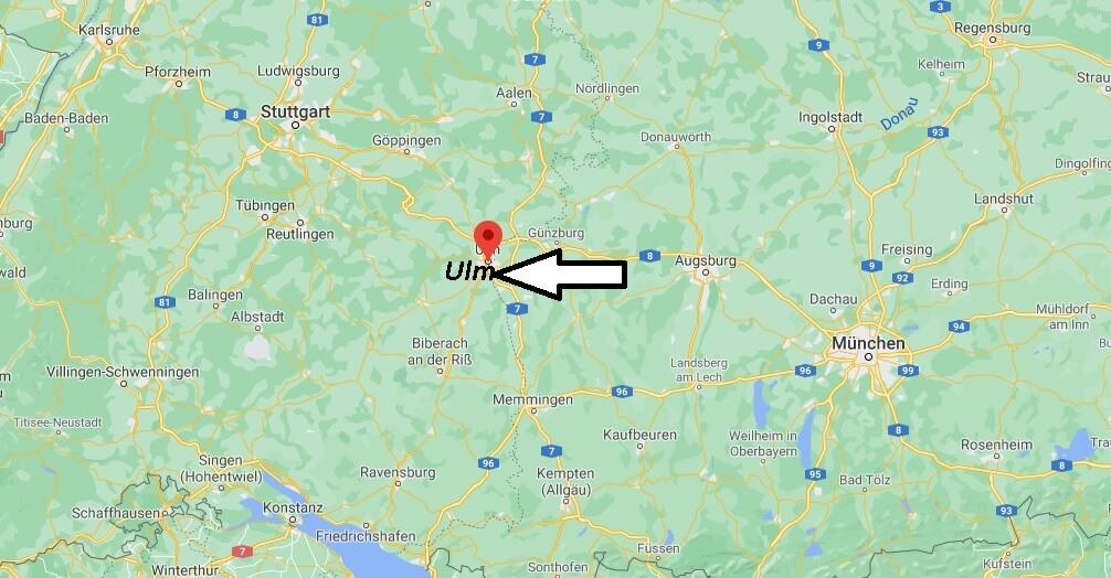 Wo ist Ulm (Postleitzahl 89073)
