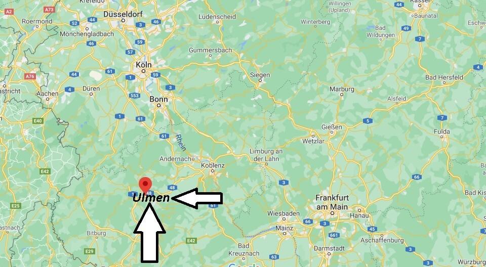 Wo ist Ulmen (Postleitzahl 56766)