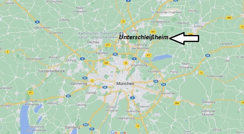 Wo ist Unterschleißheim (Postleitzahl 85716)