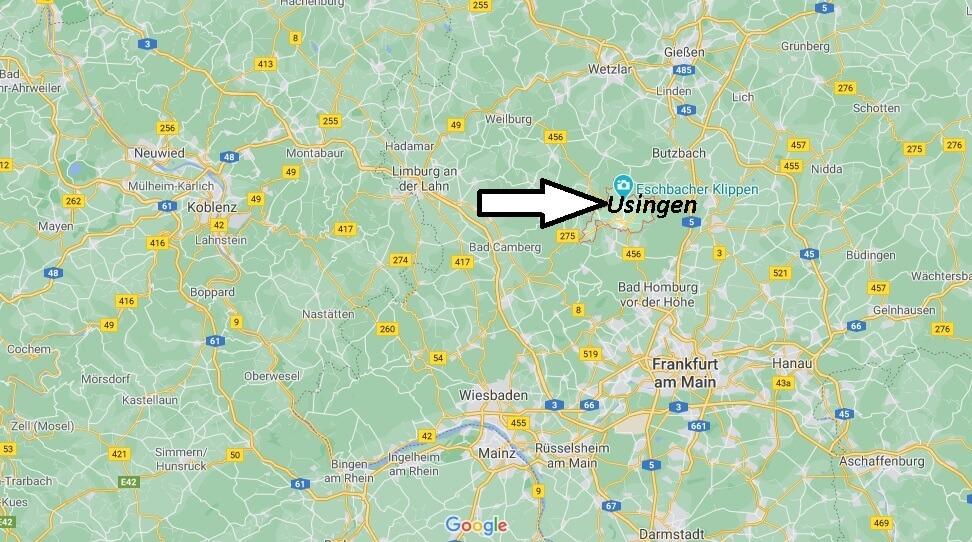 Wo ist Usingen (Postleitzahl 61250)