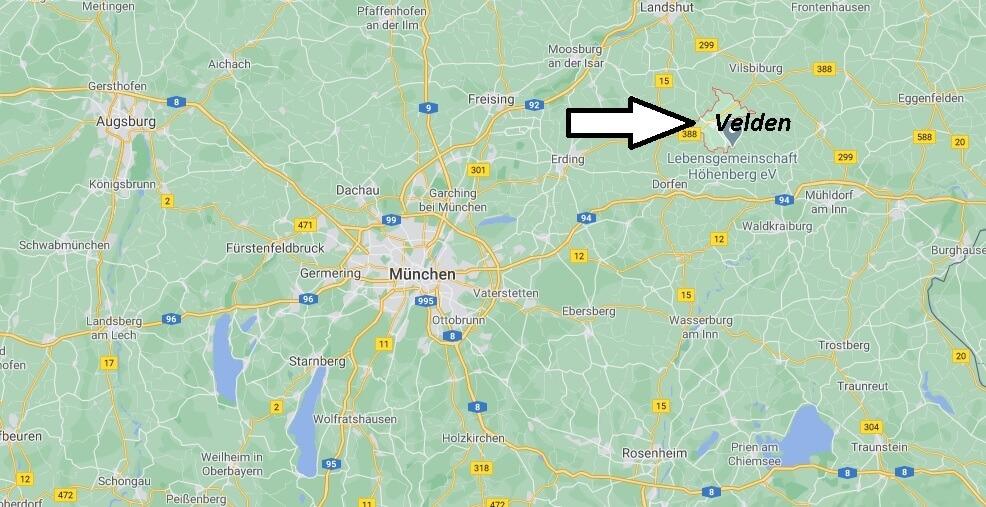 Wo ist Velden (Postleitzahl 84149)