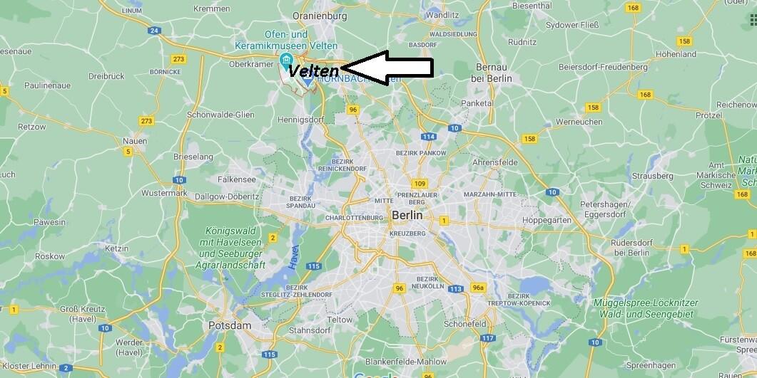Wo ist Velten (Postleitzahl 16727)