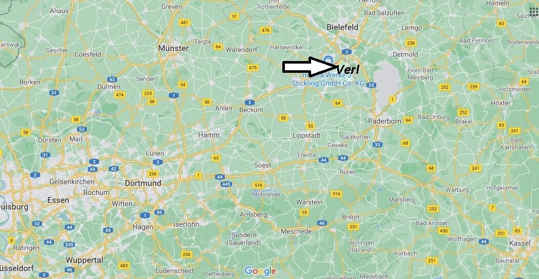 In welchem Bundesland ist Verl