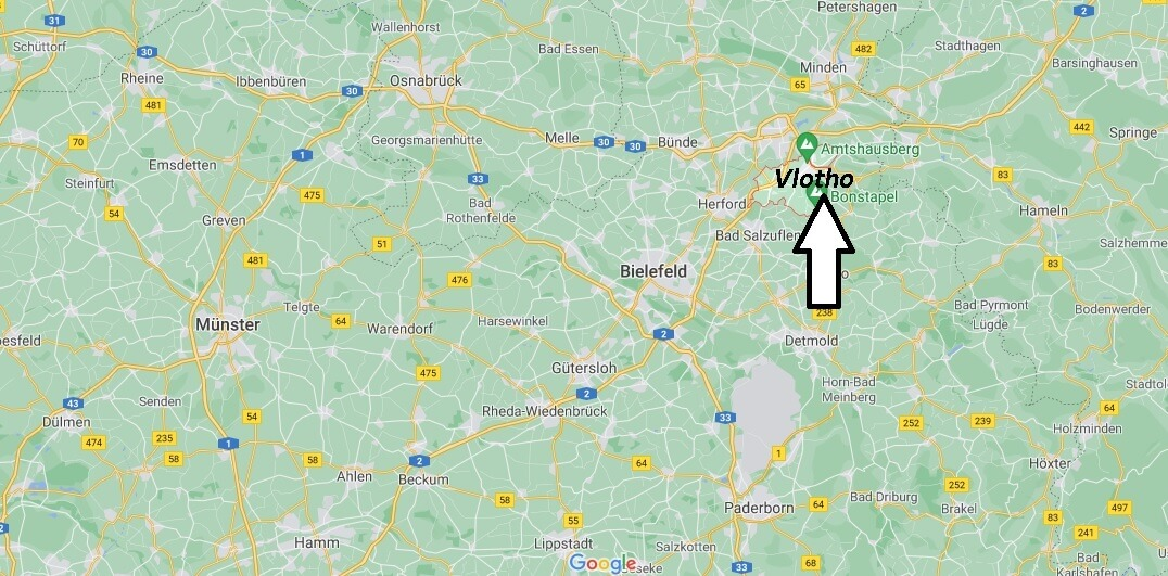 Wo ist Vlotho (Postleitzahl 32602)