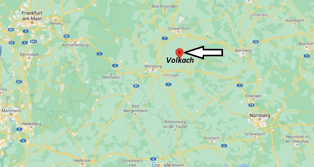 Wo ist Volkach (Postleitzahl 97332)