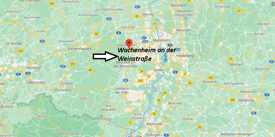 Wo ist Wachenheim an der Weinstraße (Postleitzahl 67157)