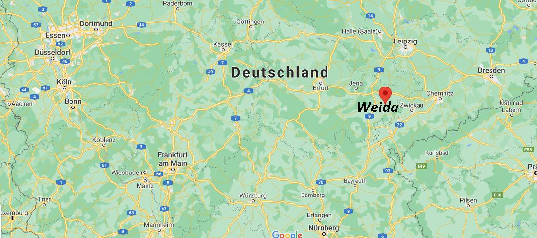 In welchem Bundesland liegt Weida
