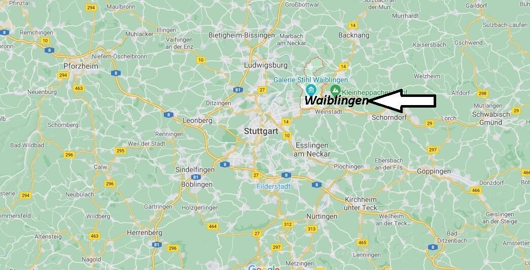Wo ist Waiblingen (Postleitzahl 71332)