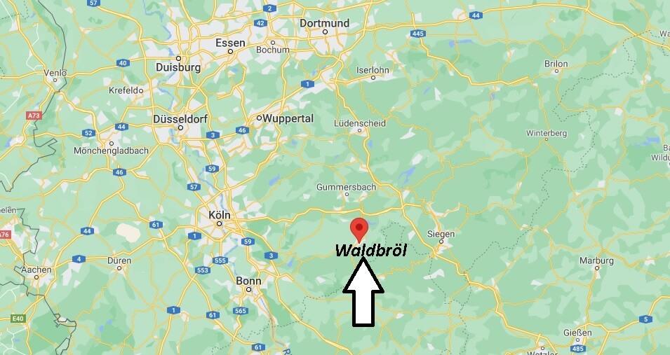 Wo ist Waldbröl (Postleitzahl 51545)