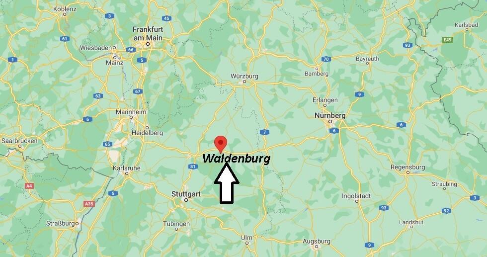 Wo ist Waldenburg (Postleitzahl 74638)