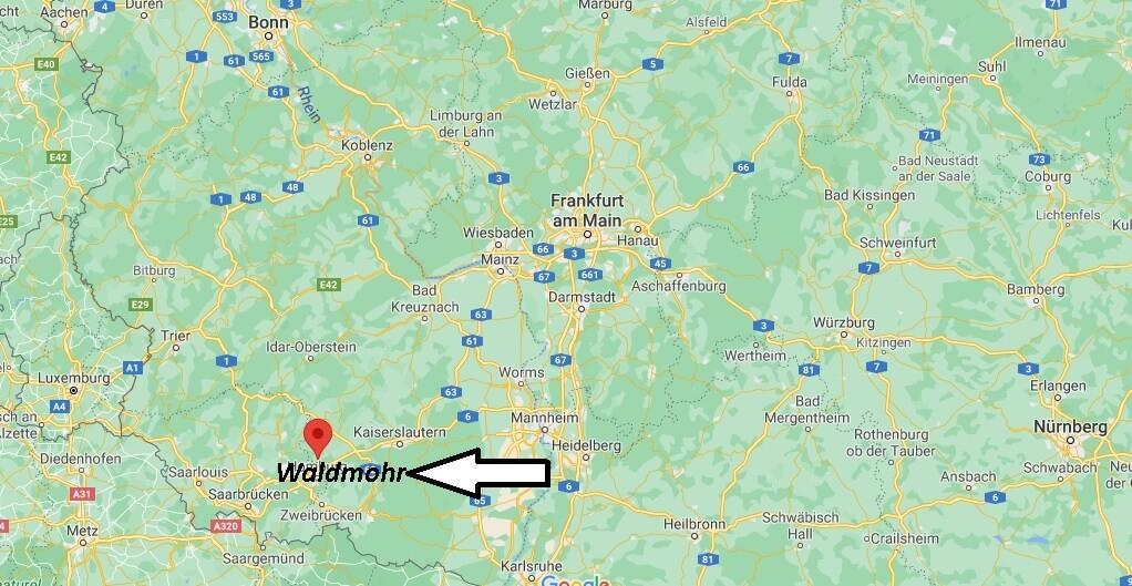 Wo ist Waldmohr (Postleitzahl 66914)