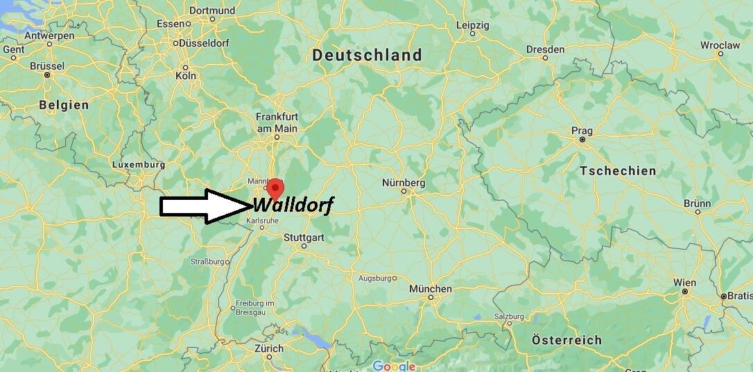 Wo ist Walldorf (Postleitzahl 69190)