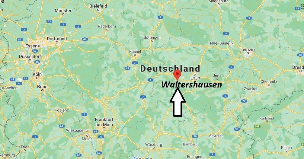Wo ist Waltershausen (Postleitzahl 99880)