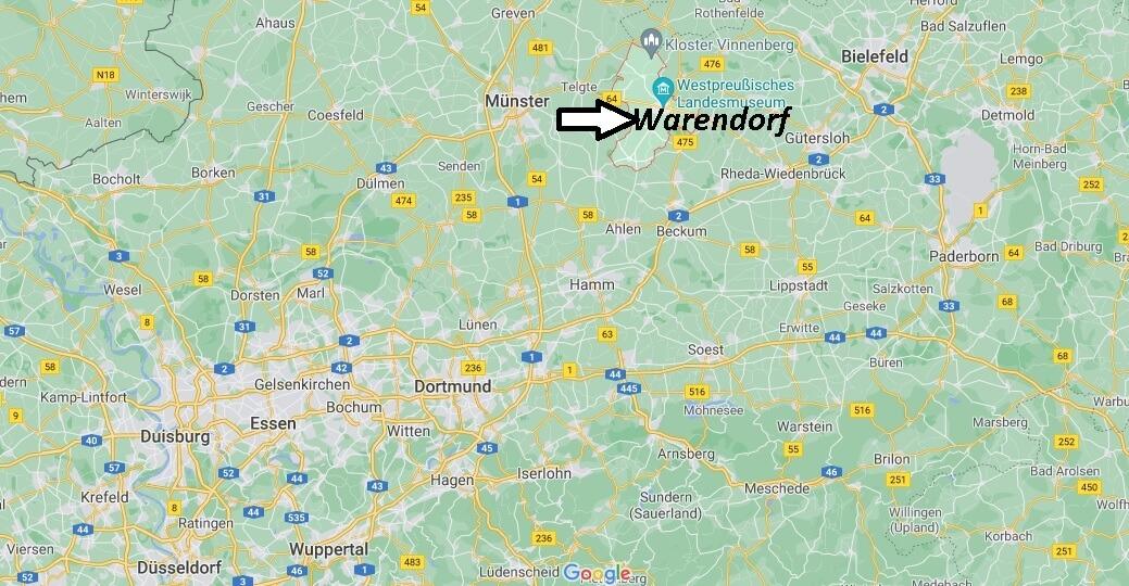 In welchem Bundesland liegt Warendorf