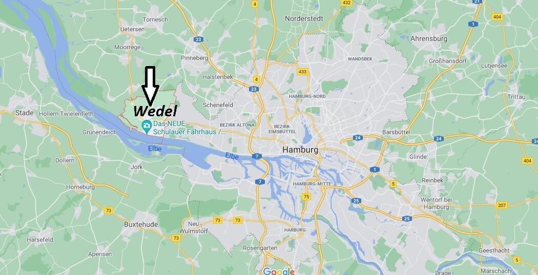 Wo ist Wedel (Postleitzahl 22880)