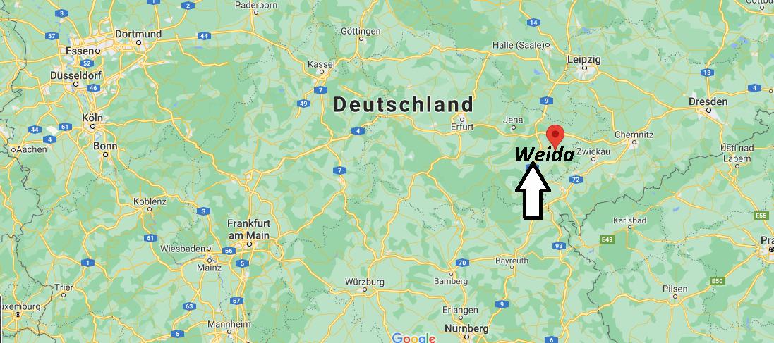 Wo ist Weida (Postleitzahl 07570)