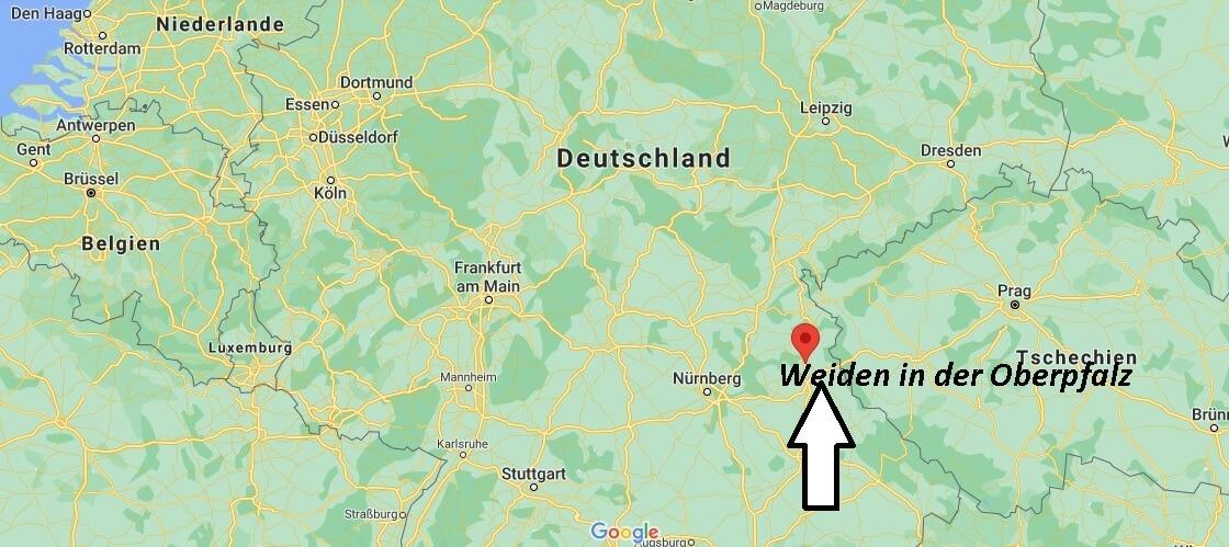 Wo ist Weiden in der Oberpfalz (Postleitzahl 92637)