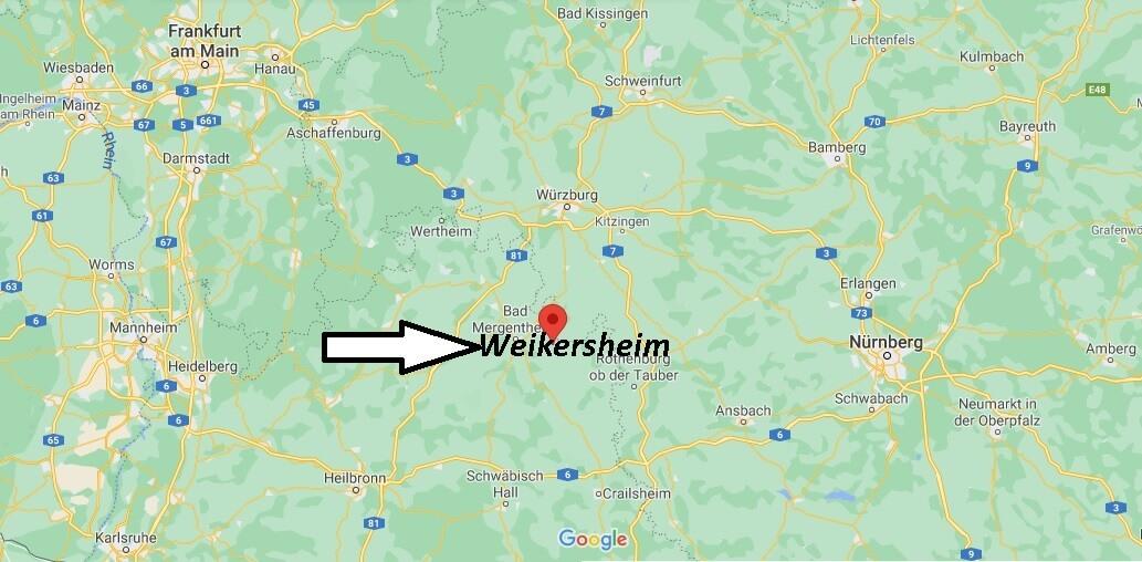 Wo ist Weikersheim (Postleitzahl 97990)