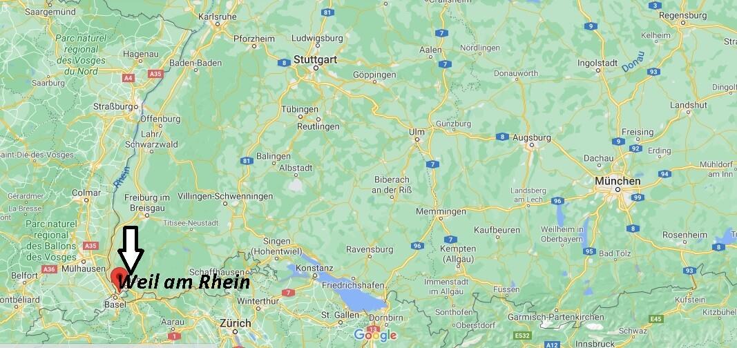 Wo ist Weil am Rhein (Postleitzahl 79576)