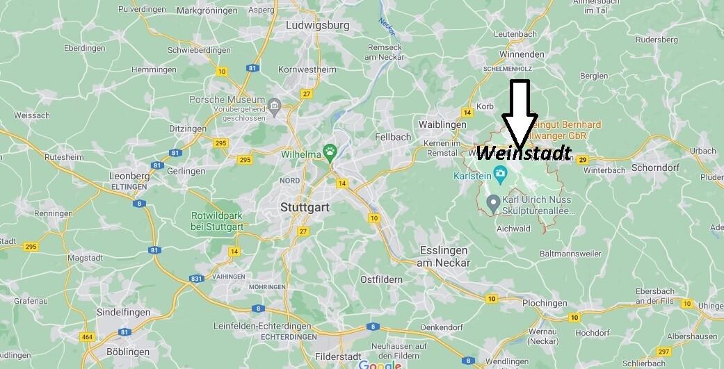 Wo ist Weinstadt (Postleitzahl 71384)