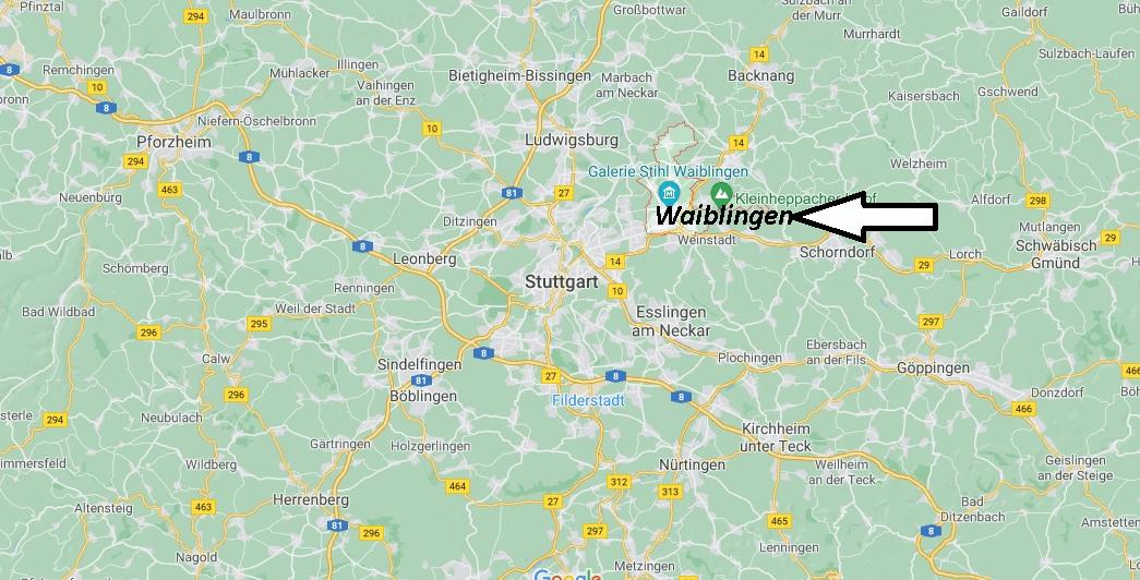 Wo liegt Waiblingen
