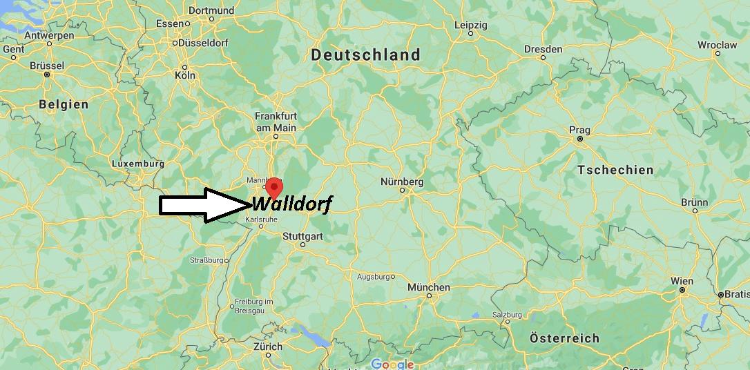 Wo liegt Walldorf