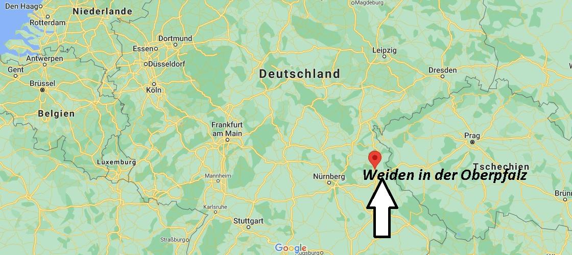 Wo liegt Weiden in der Oberpfalz